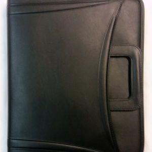 7Pcs Black Leather w/ Pullout Strap Prortfolio